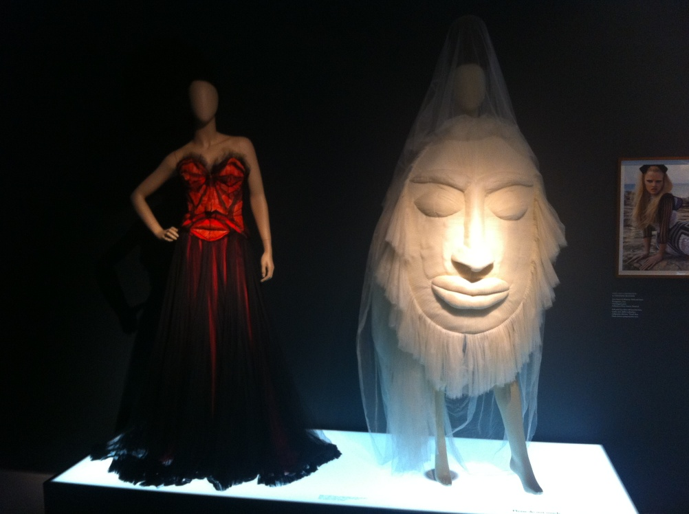 "Je T'aime Afrique: A Jean Paul Gaultier ""Mask"" and silk tulle wedding gown from his Spring/Summer 2005 Haute Couture Collection"