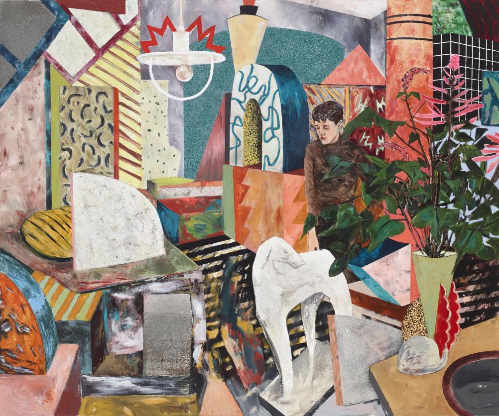 Hernan Bas Memphis Living (running out of room), 2014