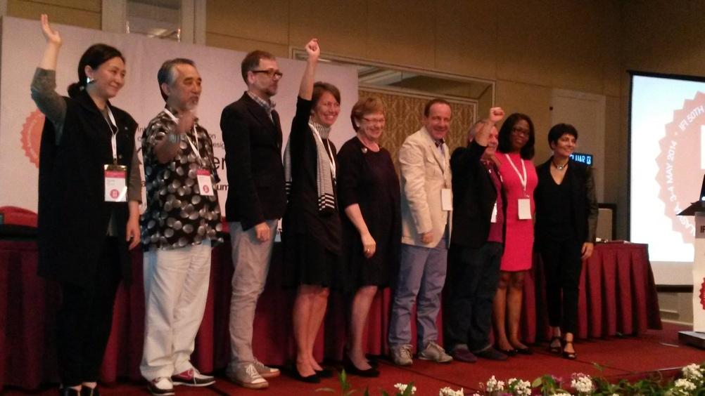 Iris Dunbar (centre) with fellow IFI board members