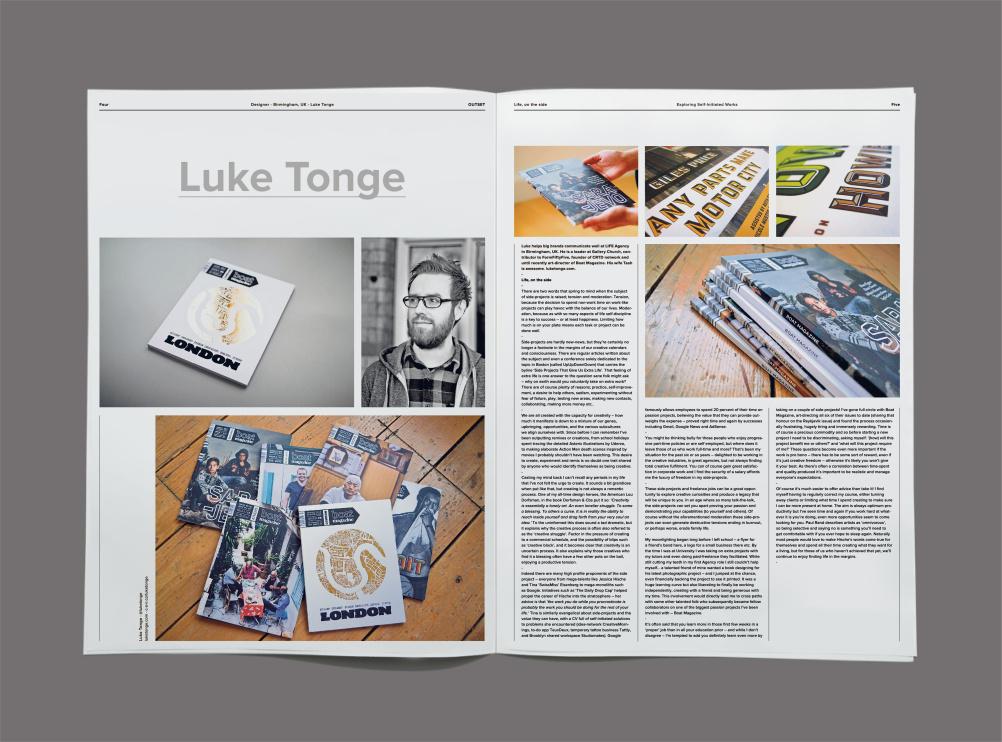 Luke Tonge, designer at Life agency, Birmingham UK