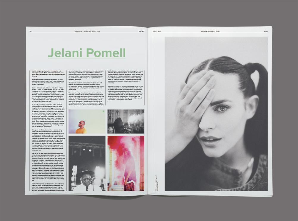 Jelani Pomell, graphic designer, photographer, videographer, London