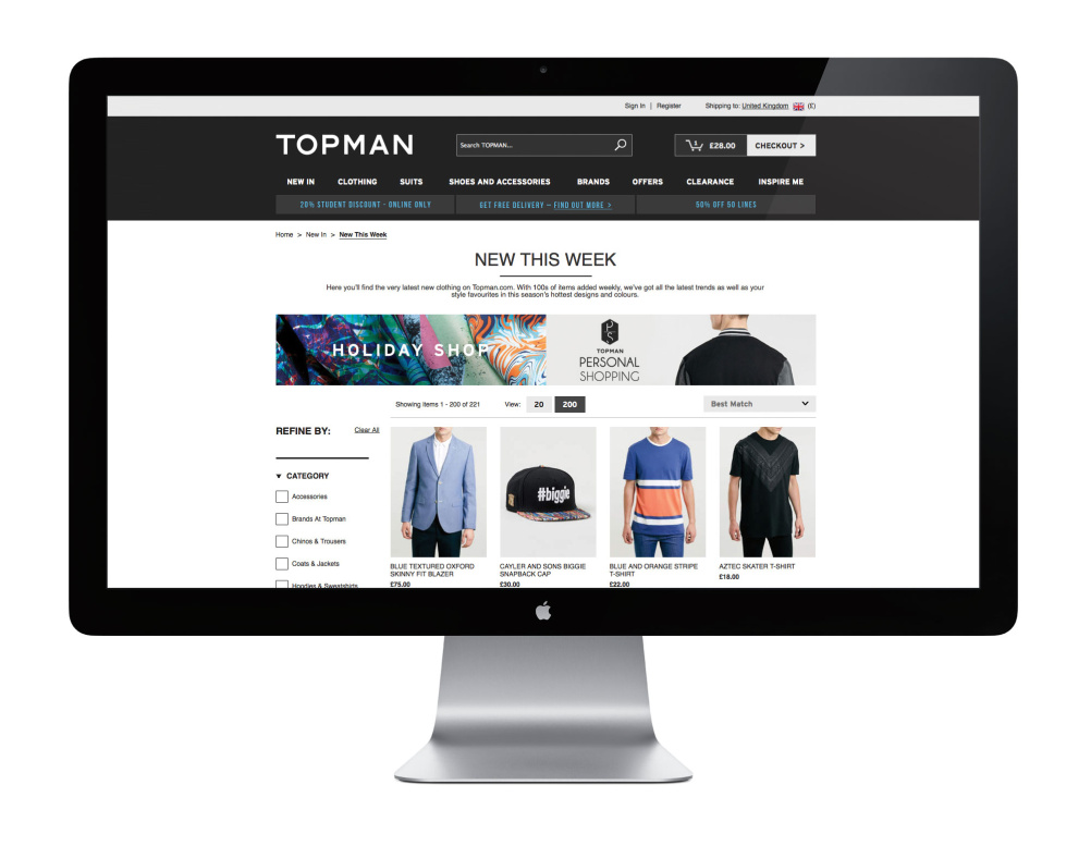 The new Topman site