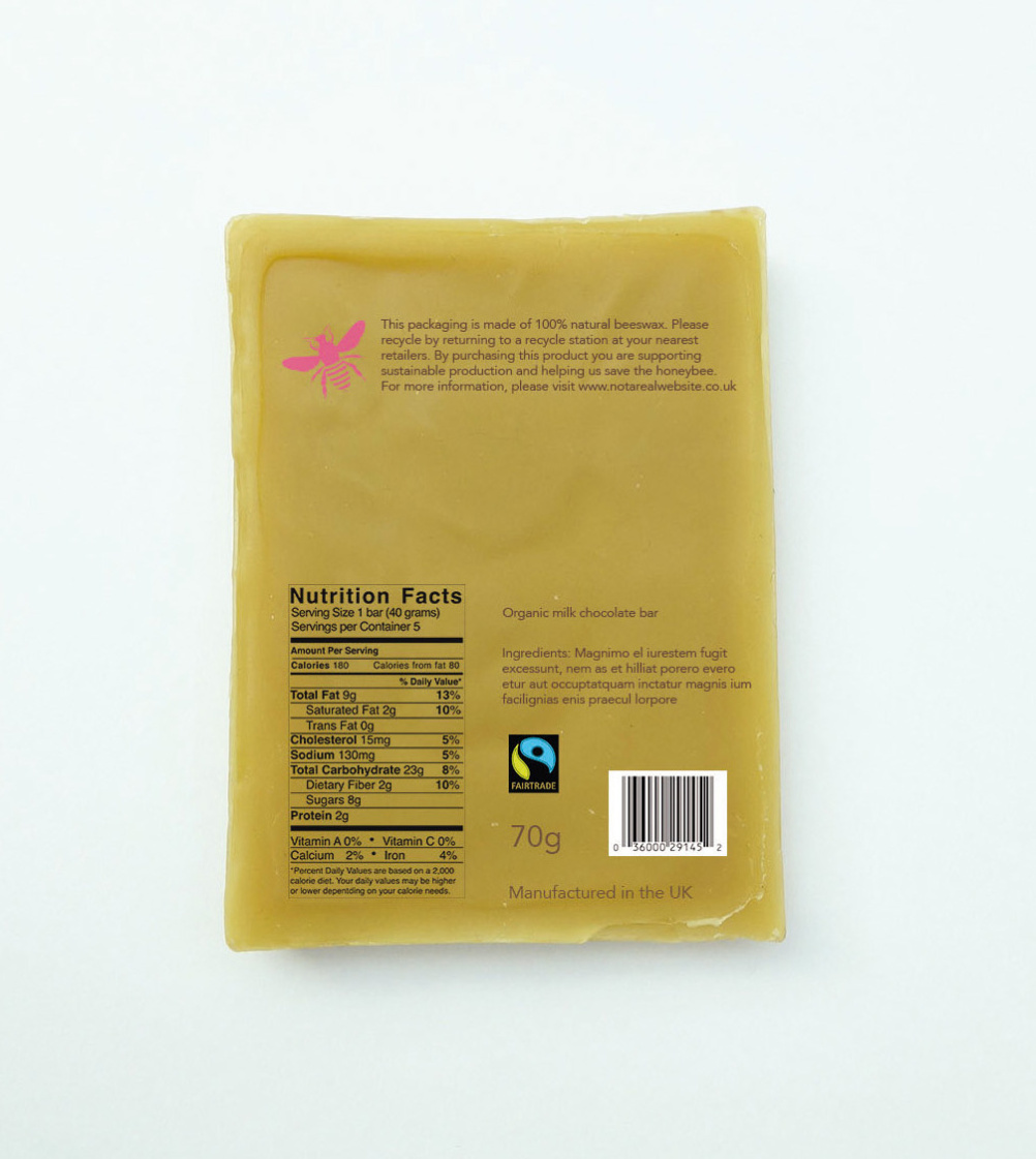 Beeswax packaging, proposed by Riikka Suominen and Thea Engerdahl