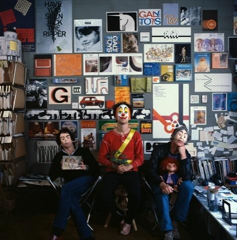Ken Garland Associates in the studio, 1982 (Ken's on the right)