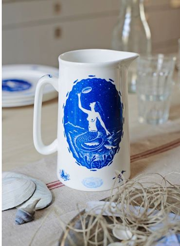 Mermaid Jug from Starch Green
