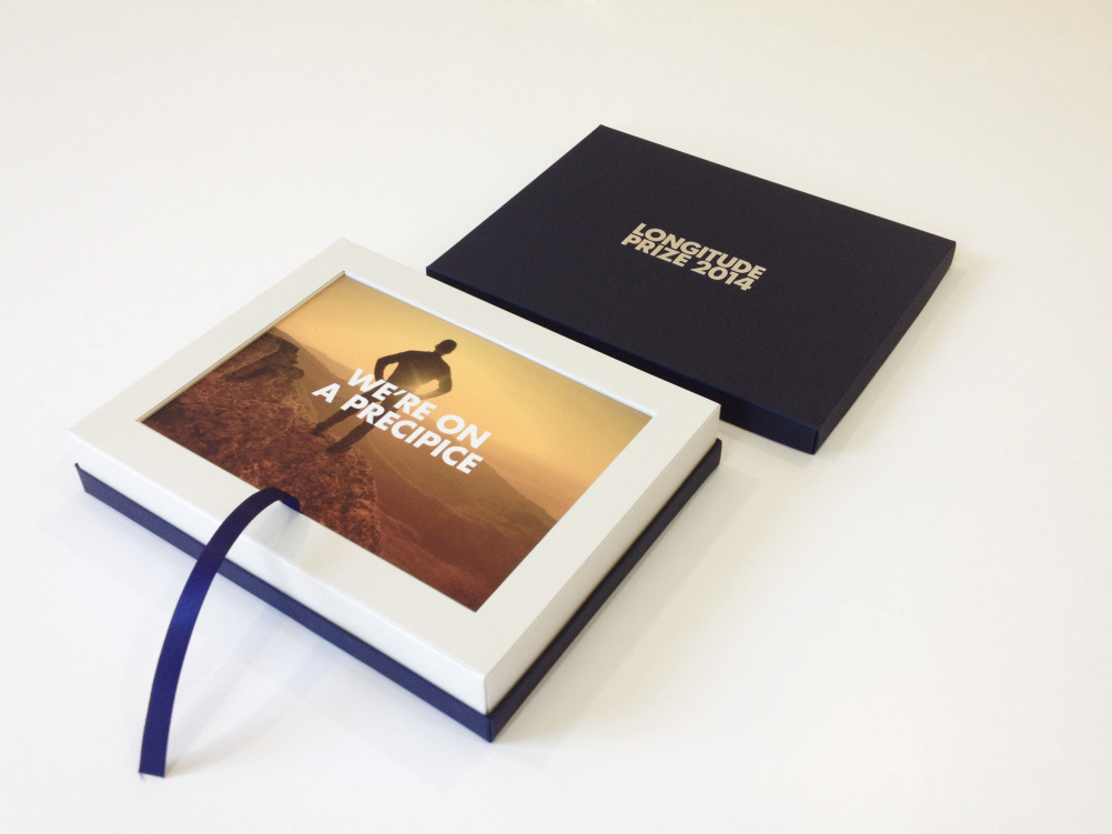 Longitude Prize printed collateral