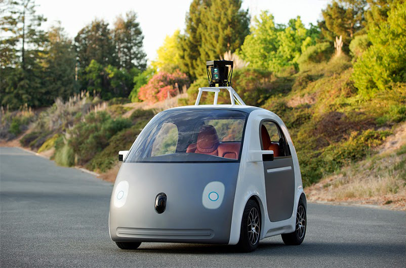 An early prototype of Google's driverless car