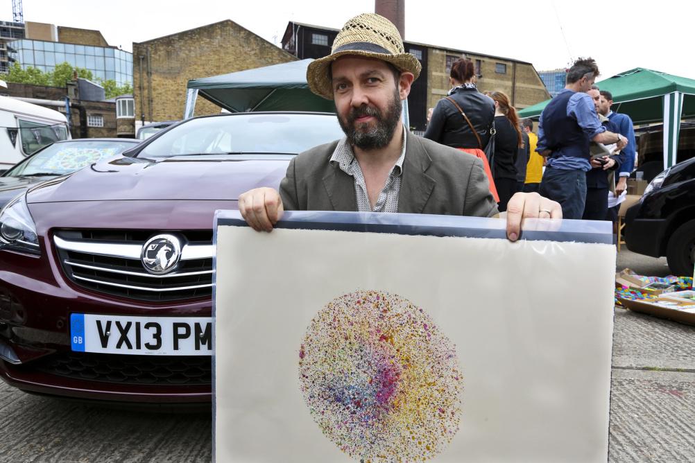 Nick Reynolds at the Vauxhall Art Car Boot Fair 2013