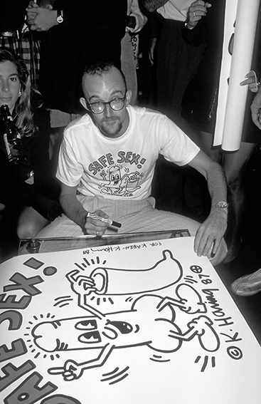 Ron Galella: Keith Haring, Club MK, 1988