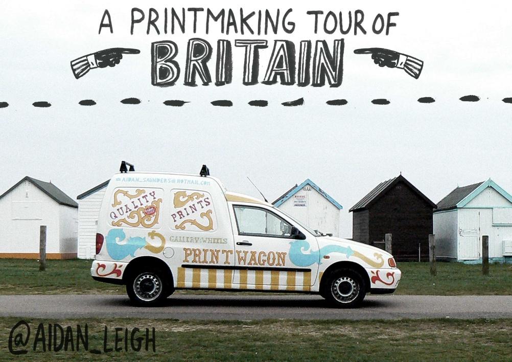 Print Wagon tour poster