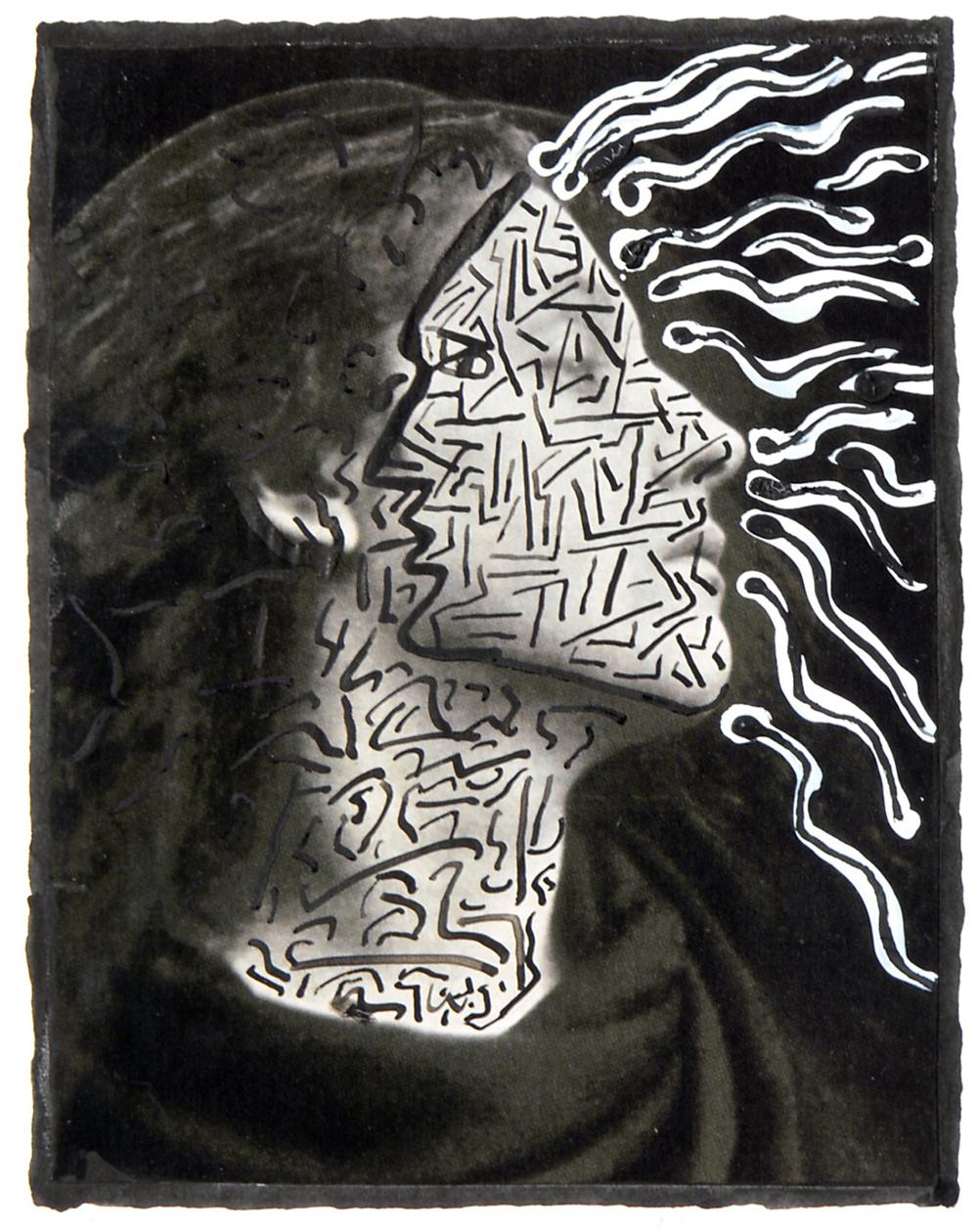 Derek Boshier, Dreaming Sensuality, treated photograph, 2006