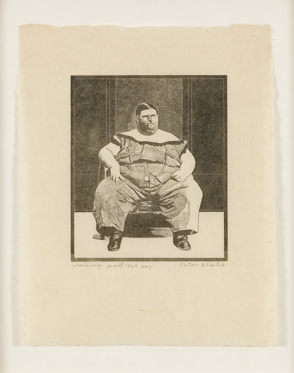 Fat Boy from 1974-78 Side Show collection by Peter Blake