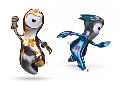 London 2012 Olympic and Paralympic mascots Wenlock and Mandeville, created by Iris
