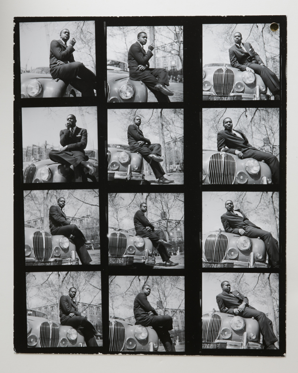 Contact sheet of the cover shoot for Donald Byrd's The Cat Walk (1962). Photo by Francis Wolff © 2014 Mosaic Images