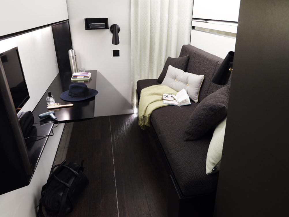 Snoozebox living area