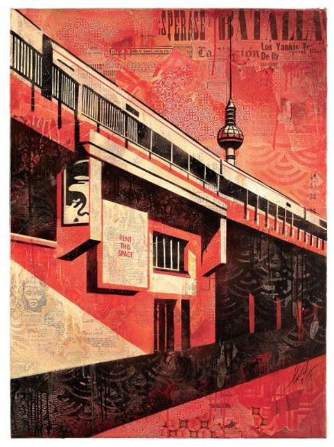 Shepard Fairey, Berlin Tower, 2011