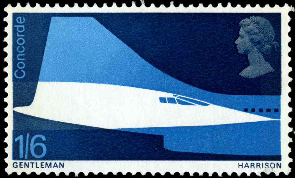 Special Stamps 50th anniversary Royal Mail British Concorde