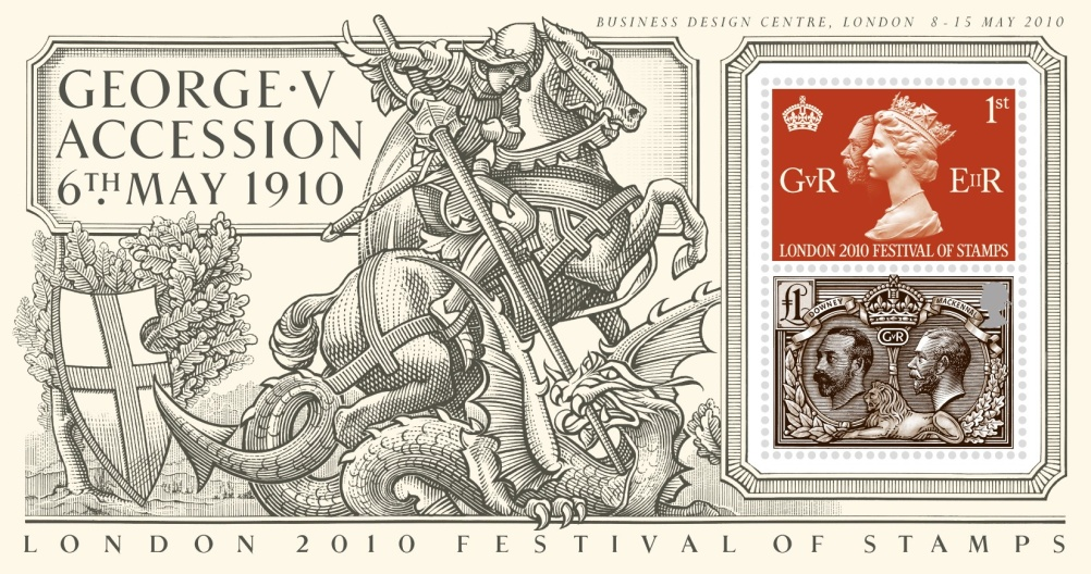 Special Stamps 50th anniversary Royal Mail Accession George V