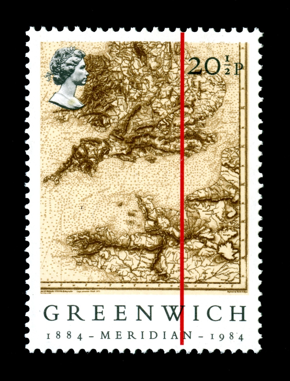 Special Stamps 50th anniversary Royal Mail British Greenwich Meridian