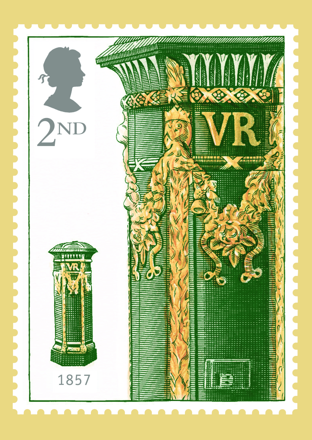 Special Stamps 50th anniversary Royal Mail first pillar box