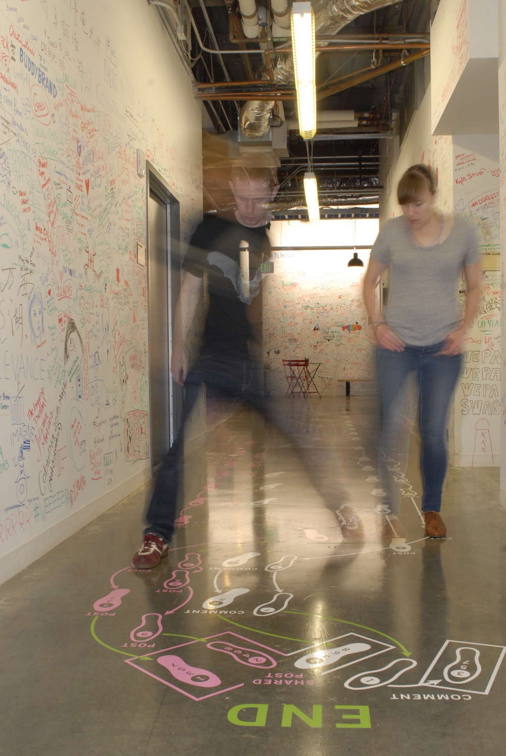 Facebook Art Residency: Relationship Dance Steps. Photograph by Steve McInery