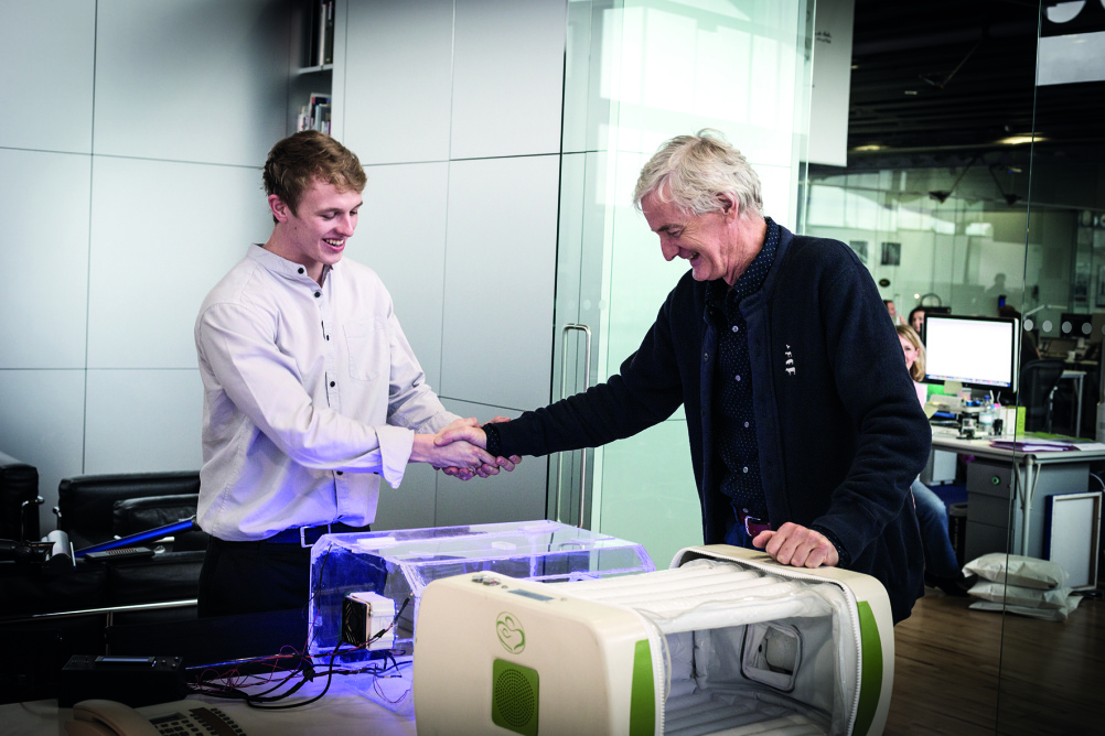 James Roberts, (left) and James Dyson (right)