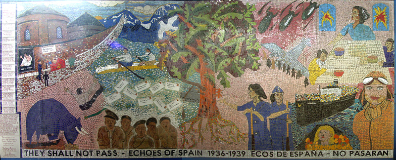 Mosaic under the Westway on Portobello Road