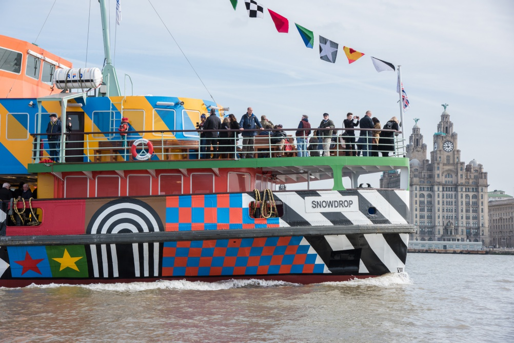Peter Blake's Everybody Razzle Dazzle ferry. Photo: Mark McNulty.