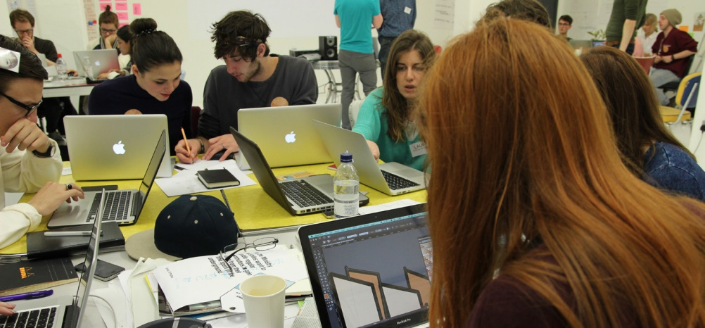 Students on the Collabology course