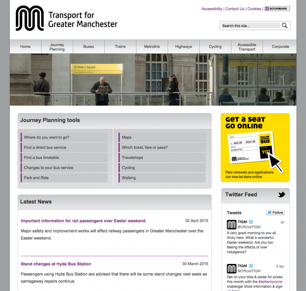 The current TGM website