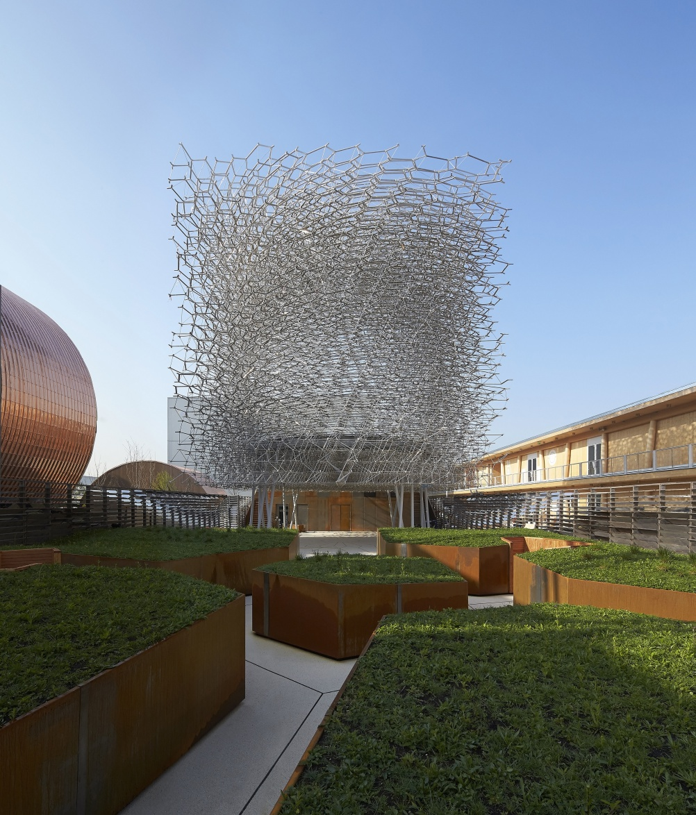 UK Pavilion by day. © Crown Copyright. Photo: Hufton+Crow