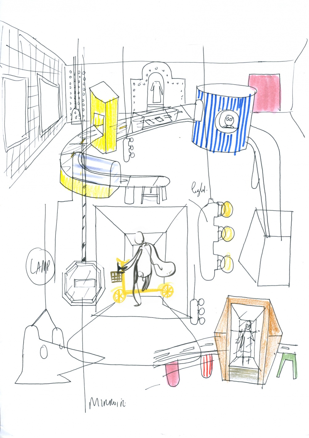 Urban Perspectives sketch by Jaime Hayon