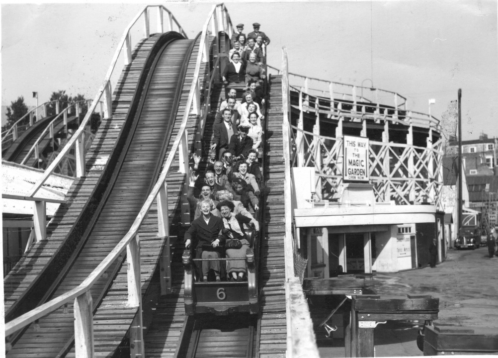 Dreamland's Scenic Railway in 1951