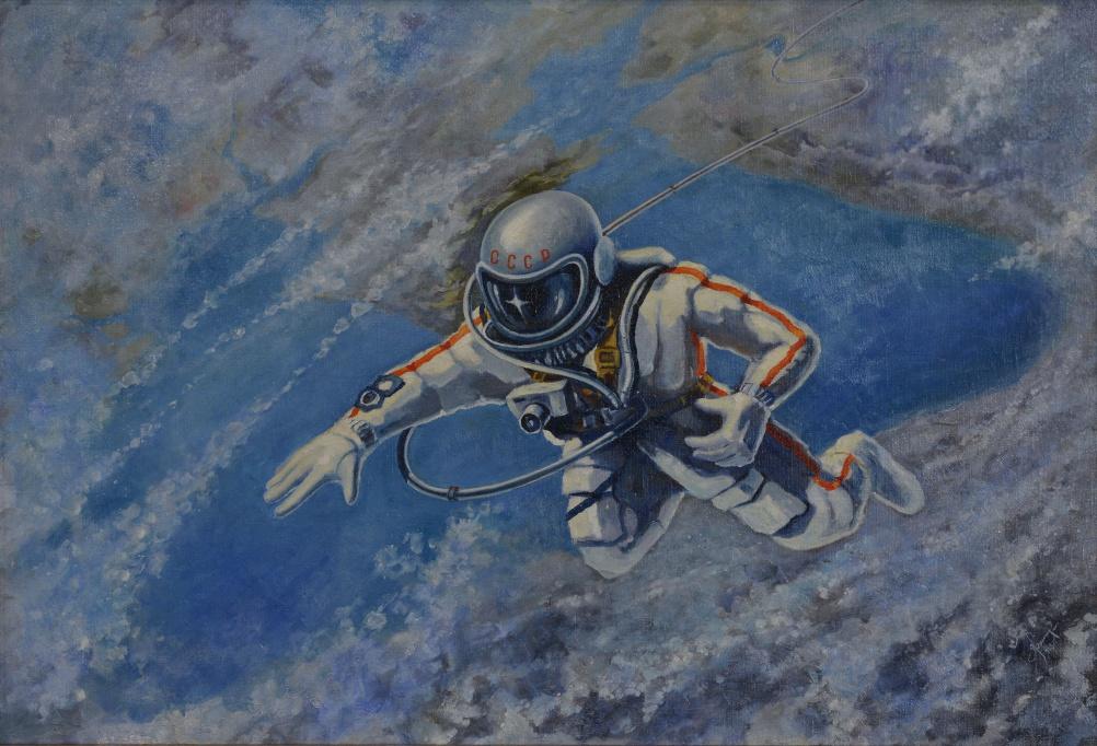 Alexei Leonov, Over the Black Sea, 1973.  The Memorial Museum of Cosmonautics.