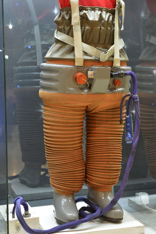 Chibis (Lapwing) Lower Body Negative Pressure Suit, 1971. Memorial Museum of Cosmonautics. Photo, State Museum and Exhibition Centre ROSIZO