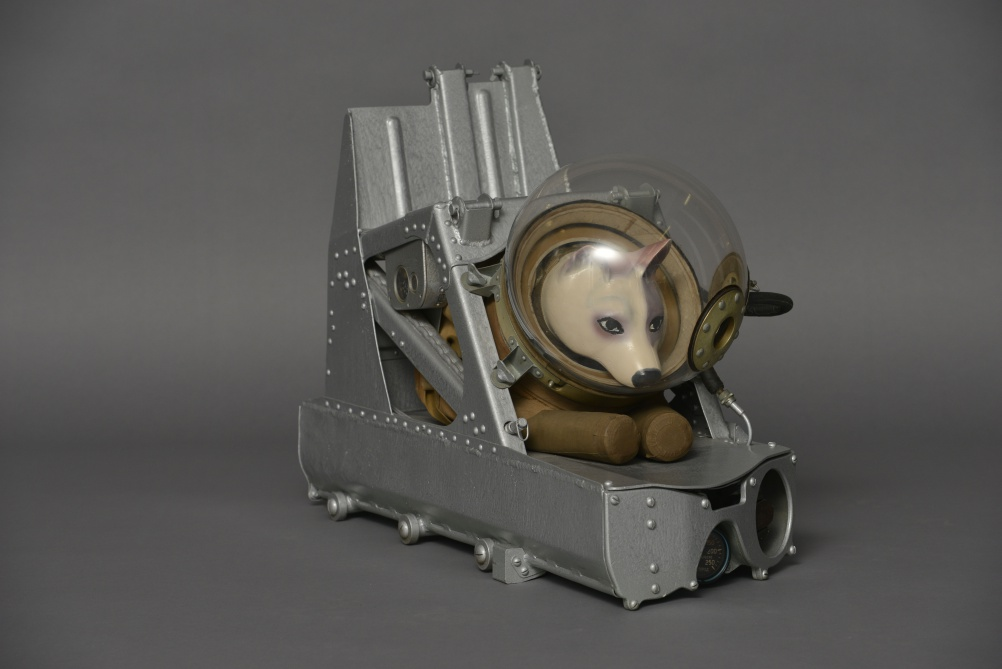 Dog ejector seat and suit, ca. 1955. Zvezda. Photo, State Museum and Exhibition Centre ROSIZO