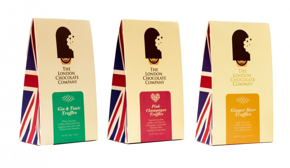 Packaging for the London Chocolate Company