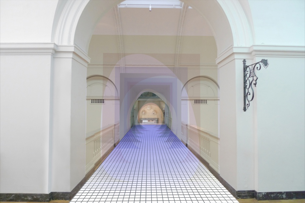 'Mise-en-abyme' by Matteo Fogale and Laetitia De Allegri Supported by Johnson Tiles, image courtesy of the London Design Festival