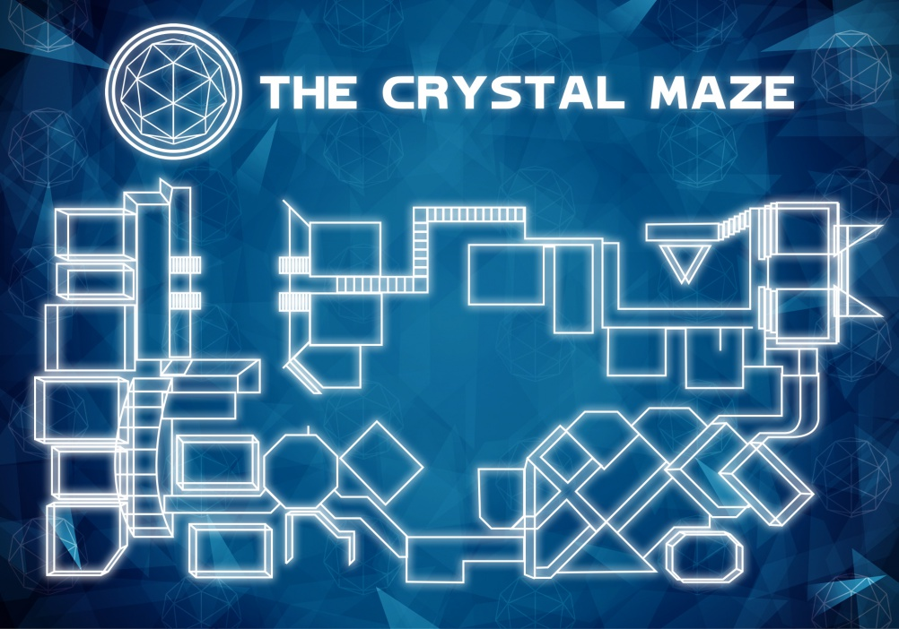 A mock up floor plan of The Crystal Maze
