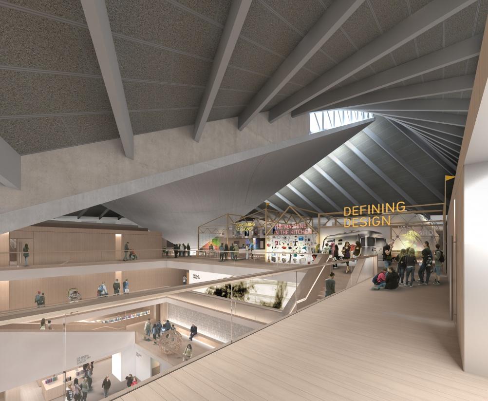 Visualisation of the new Design Museum interiors. © Alex Morris.