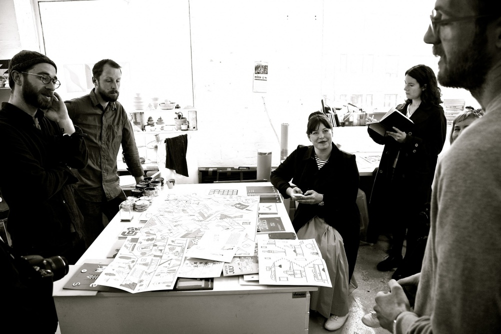 The Cass Hothouse team working in the Nous Vous studio