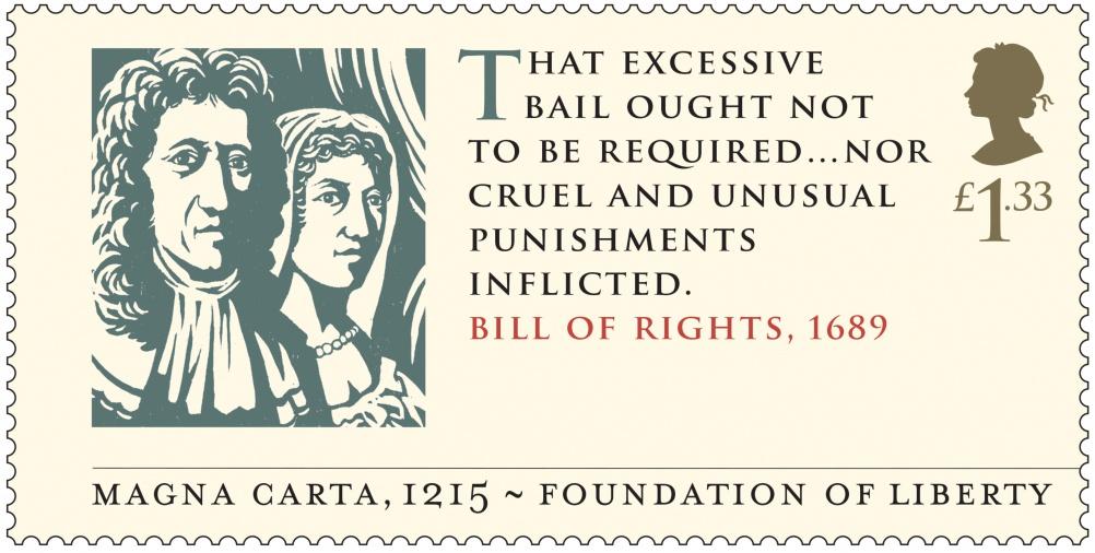 Magna Carta - Bill of Rights 1689 Stamp 400