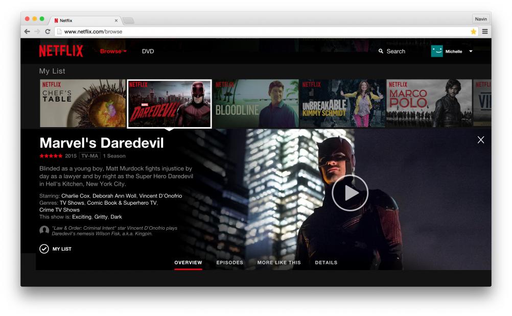 Netflix website redesign