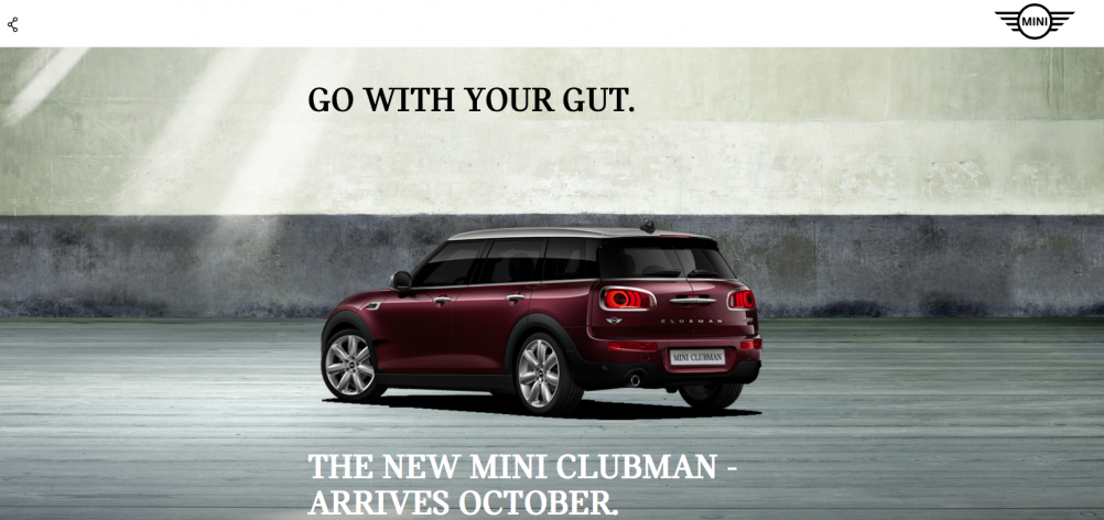 newminiclubman.co.uk homepage featuring the new logo.