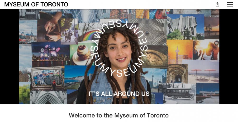 myseumoftoronto.com homepage