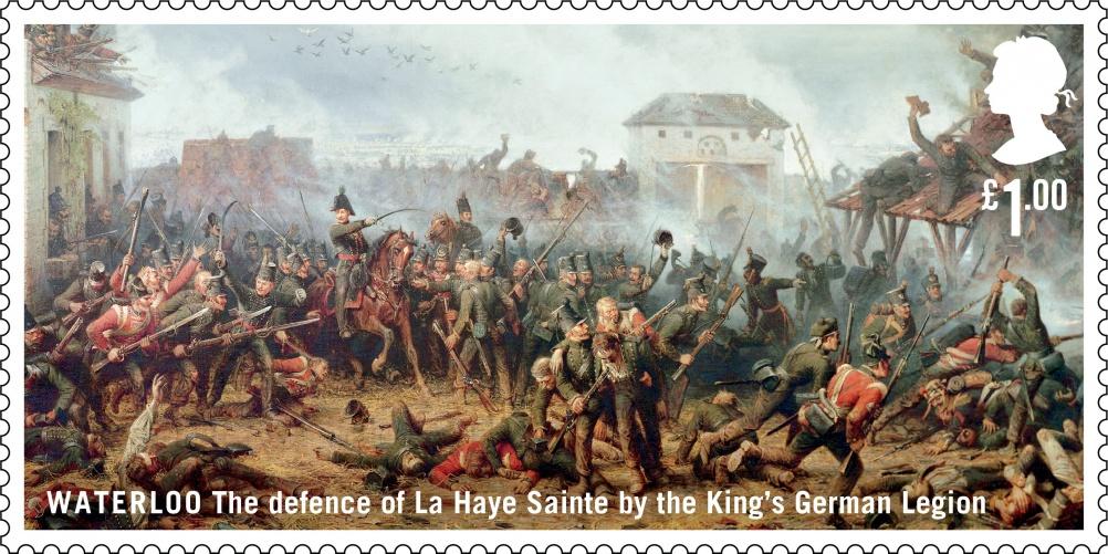 Waterloo King's German Legion stamp