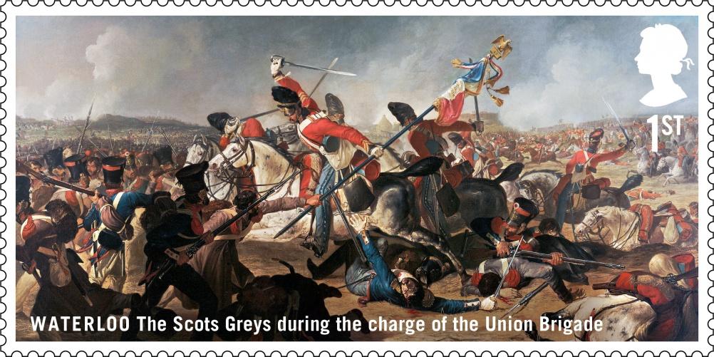 Waterloo Scots Greys stamp