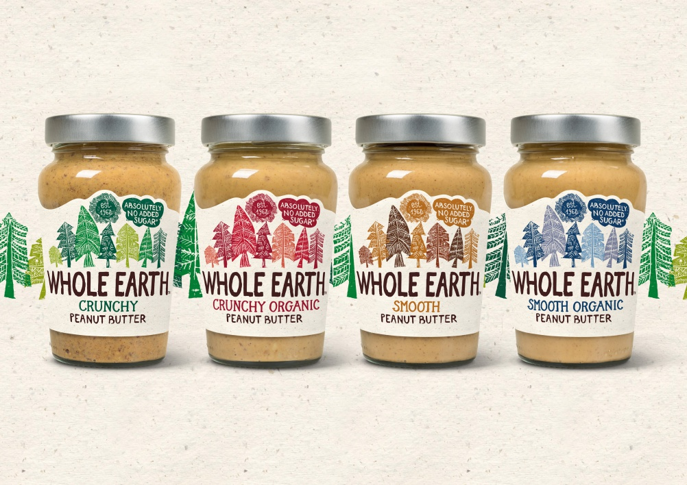 Whole Earth Peanut Butters A4