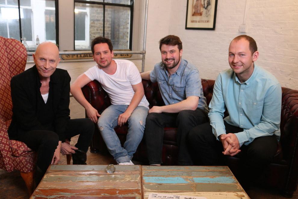 Little Lion Entertainment team with Crystal Maze TV show ex-host Richard O'Brien