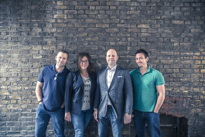 From left to right: Dave Weygang, Caroline Holton, Mark Gallie and Arren Perfetti.